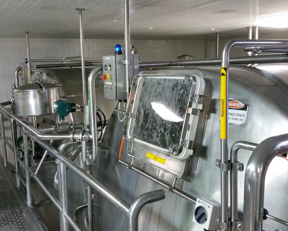 Automation equipment vats for cheese production