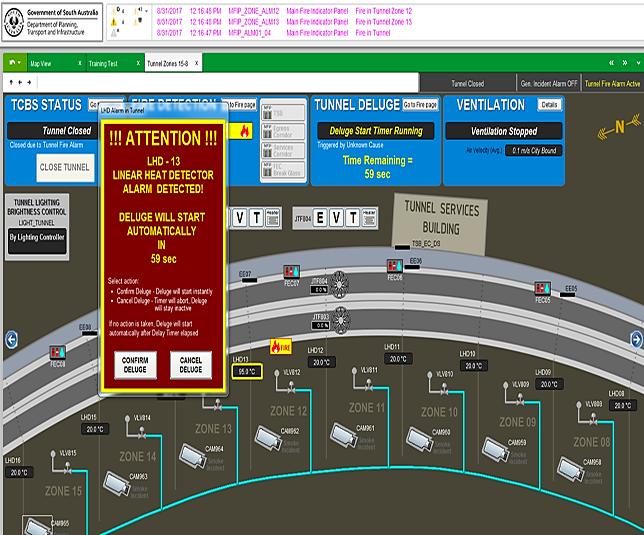 C linear heat detection screen