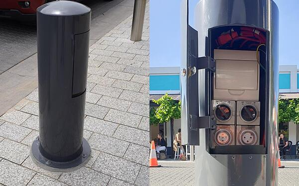 Power and event bollards