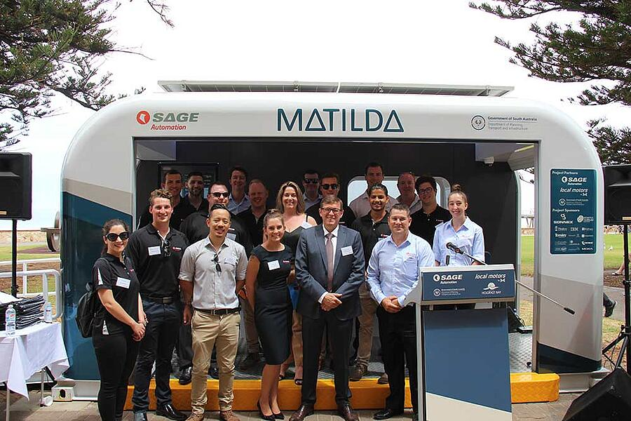 SAGE Matilda team at the launch