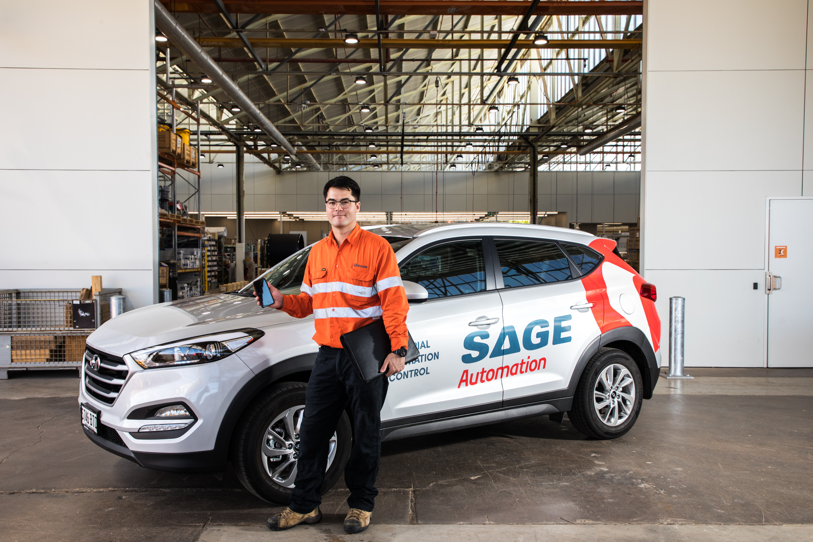 SAGE Service Tech and Vehicle