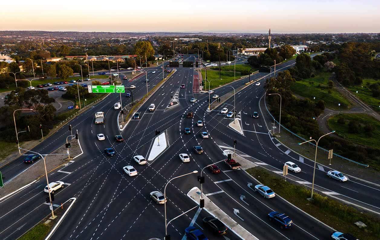 Aerial-Panalatinga-road-in-pavement-lighting