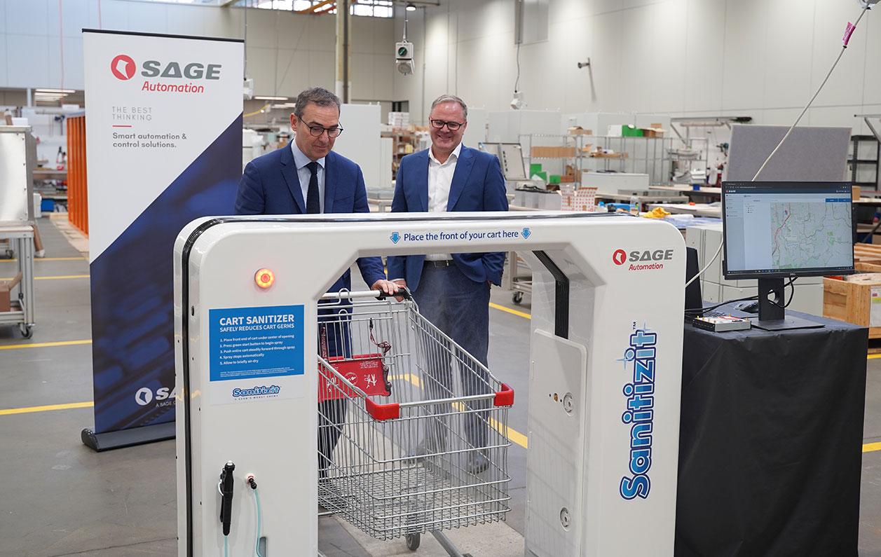 SAGE Automation brings trolley sanitising system Sanitizit to Australia