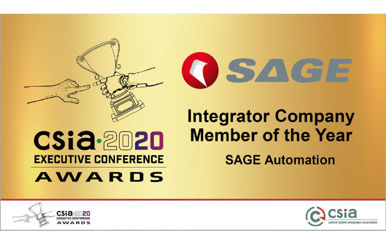 SAGE named CSIA Integrator company of the year