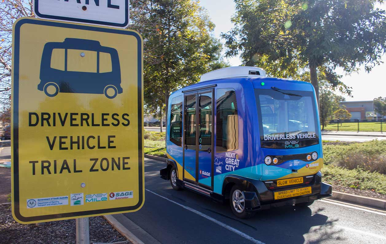 Playford Trial Driverless Bus