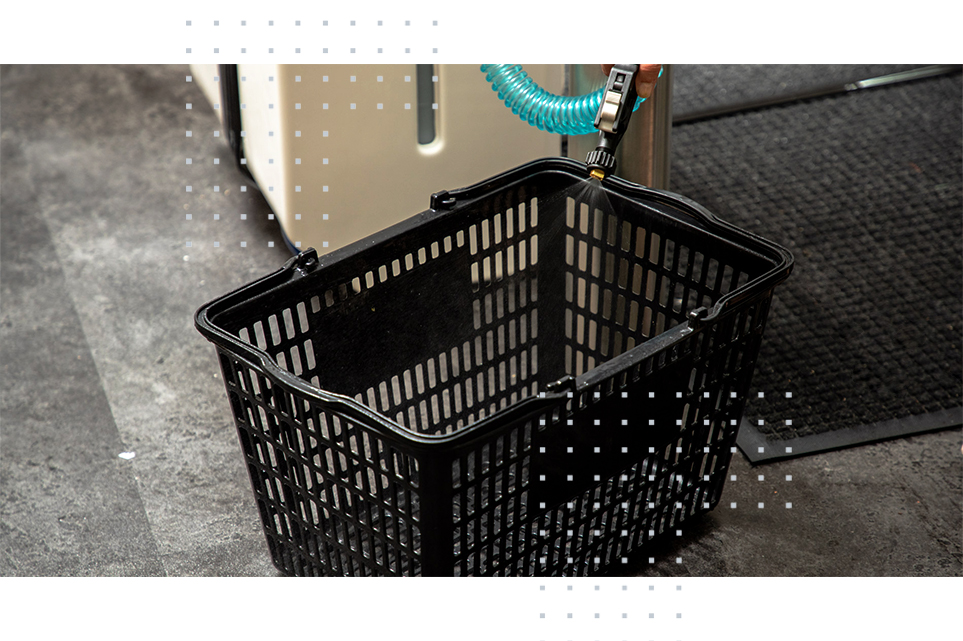 Sanitizit system disinfects trolleys