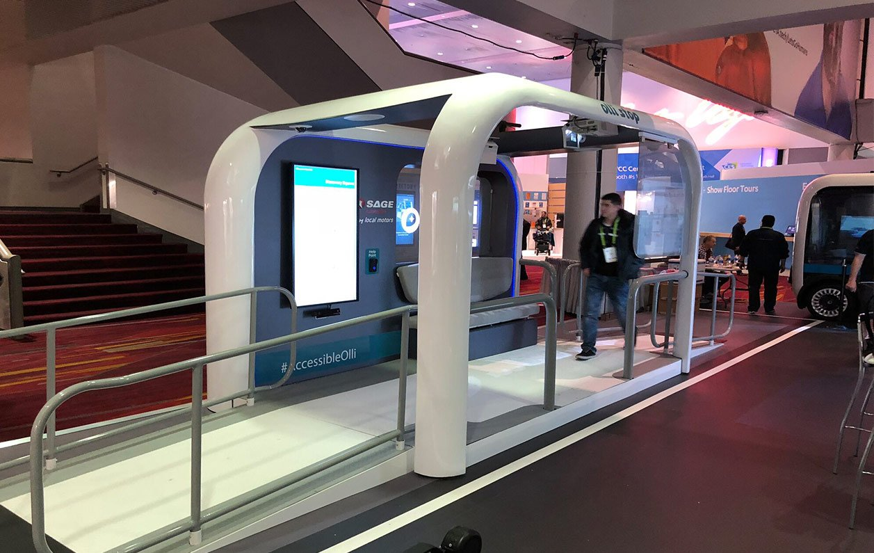 IoT enabled smart shuttle stop launches at CES