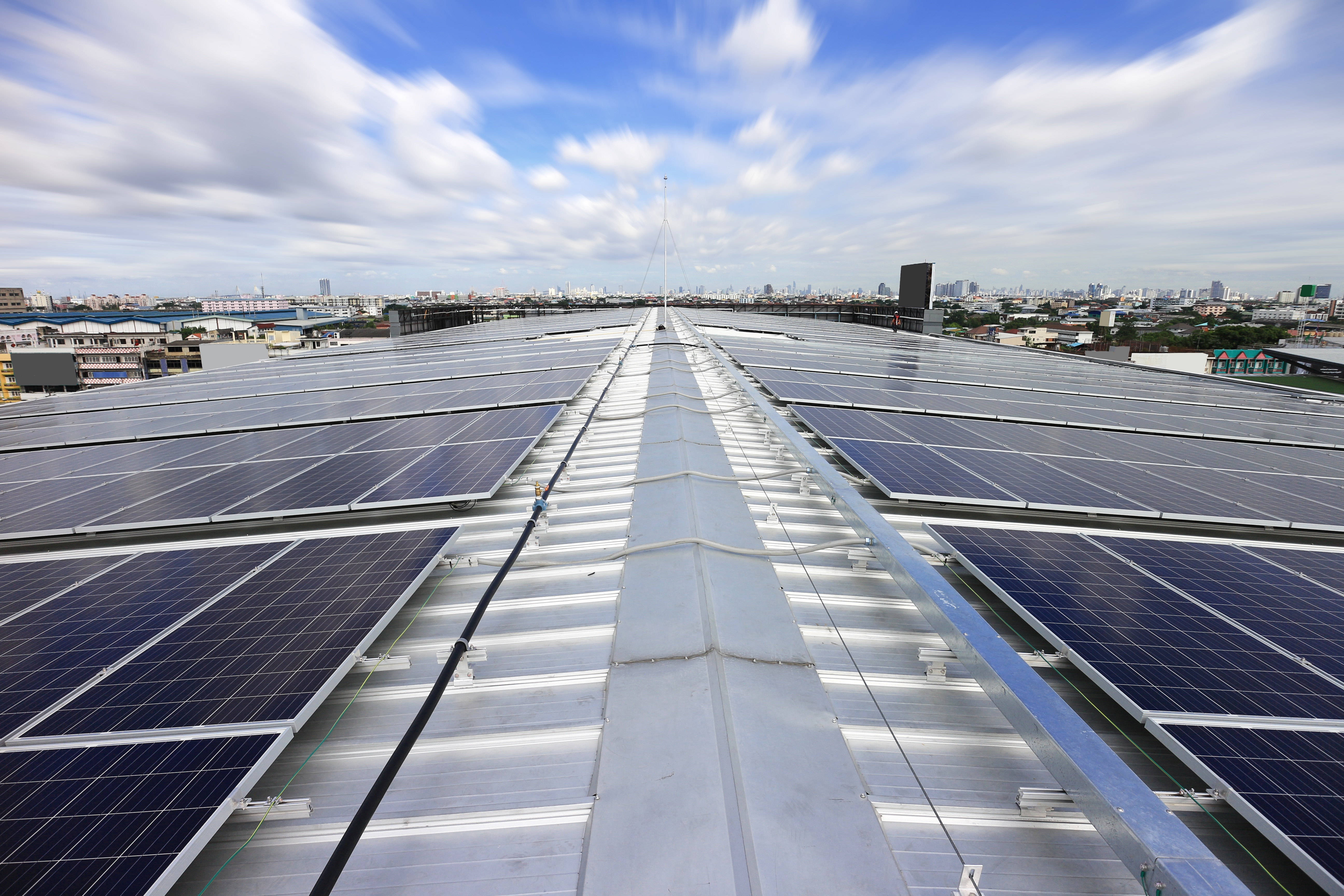 The rise of industrial solar for reduced energy bills.